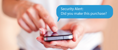 Stop Unauthorized Debit Card Purchases with smsGuardian, texting on smart phone